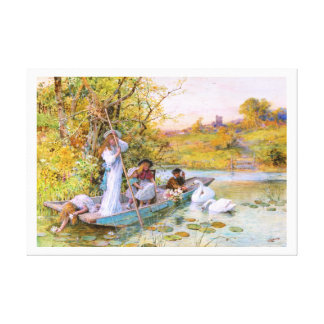 William Stephen Coleman: The Boating Gallery Wrap Canvas