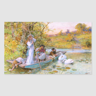 William Stephen Coleman: The Boating Rectangular Sticker