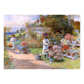 William Stephen Coleman: The Flower Garden Large Business Cards (Pack Of 100)
