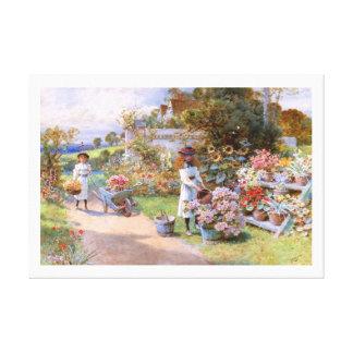 William Stephen Coleman: The Flower Garden Canvas Print
