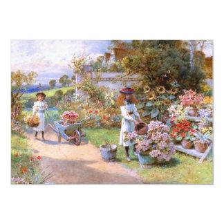 William Stephen Coleman: The Flower Garden 5x7 Paper Invitation Card