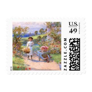 William Stephen Coleman: The Flower Garden Postage Stamp