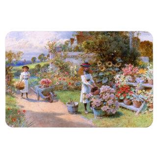 William Stephen Coleman: The Flower Garden Vinyl Magnet