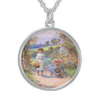 William Stephen Coleman: The Flower Garden Round Pendant Necklace