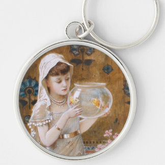 William Stephen Coleman: The Goldfish Bowl Silver-Colored Round Keychain