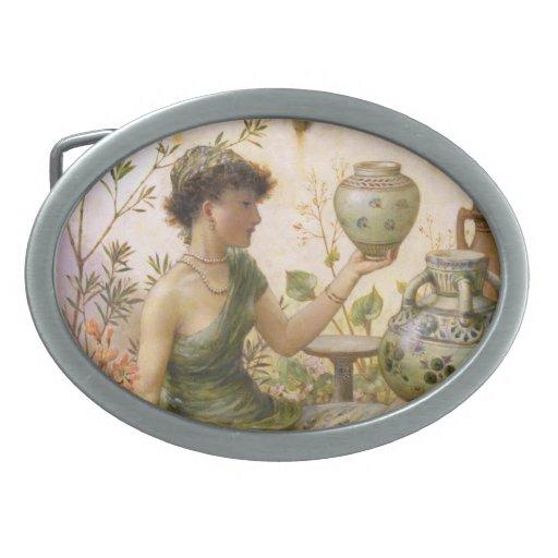 William Stephen Coleman: The Potter's Daughter Oval Belt Buckle