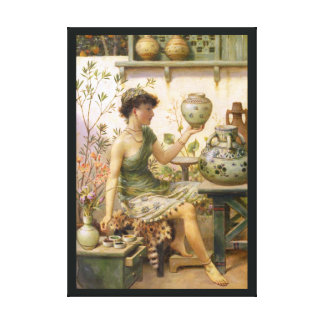 William Stephen Coleman: The Potter's Daughter Gallery Wrapped Canvas