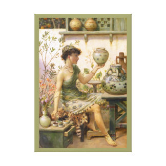 William Stephen Coleman: The Potter's Daughter Canvas Prints