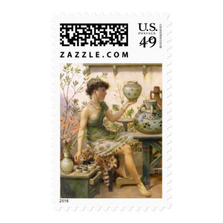 William Stephen Coleman: The Potter's Daughter Postage Stamp