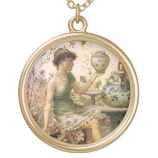 William Stephen Coleman: The Potter's Daughter Round Pendant Necklace