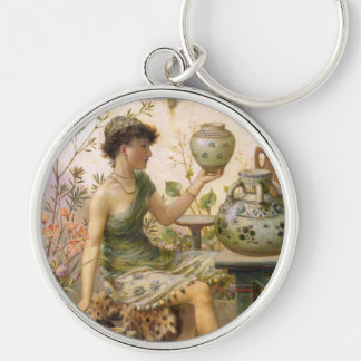 William Stephen Coleman: The Potter's Daughter Silver-Colored Round Keychain