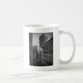 William Street North From Exchange Place New York Coffee Mug