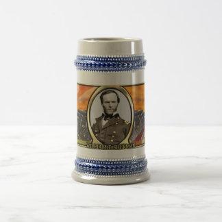 William T. Sherman Civil War Stein 18 Oz Beer Stein