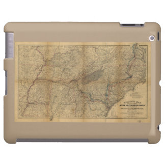 William T. Sherman Marches Military Map 1863 64 65