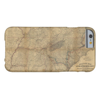 William T. Sherman Marches Military Map 1863 64 65 Barely There iPhone 6 Case