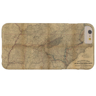 William T. Sherman Marches Military Map 1863 64 65 Barely There iPhone 6 Plus Case