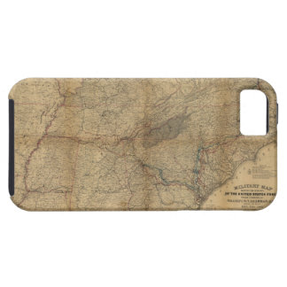 William T. Sherman Marches Military Map 1863 64 65 iPhone SE/5/5s Case