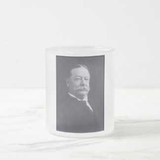 William Taft 27 Frosted Glass Coffee Mug