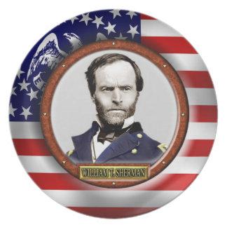 William Tecumseh Sherman Civil War Melamine Plate