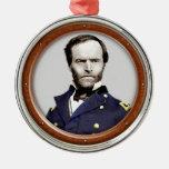 William Tecumseh Sherman Metal Ornament at Zazzle