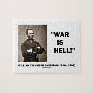 William Tecumseh Sherman War Is Hell Quote Jigsaw Puzzle