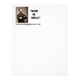 William Tecumseh Sherman War Is Hell Quote Letterhead