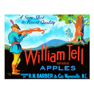William Tell Apples Post Card