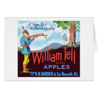 William Tell Apples Vintage Label Card