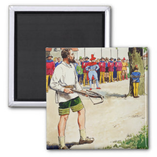 William Tell, from 'Peeps into the Past', publishe 2 Inch Square Magnet