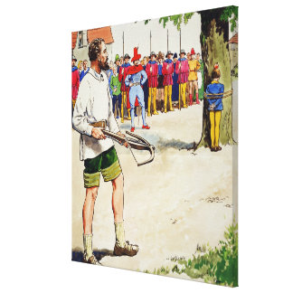 William Tell, from 'Peeps into the Past', publishe Canvas Print