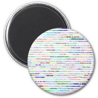 William Text Design II Round Magnet
