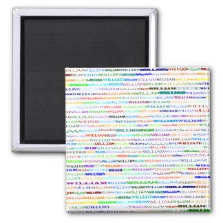 William Text Design II Square Magnet