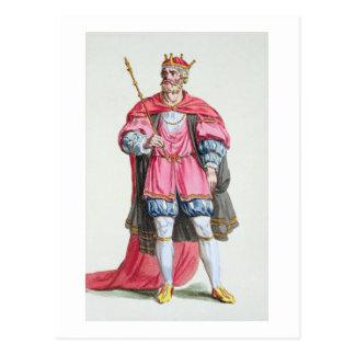 William the Conqueror (1027-87), from 'Receuil des Postcard