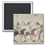 William the Conqueror  arrives at Bayeux 2 Inch Square Magnet