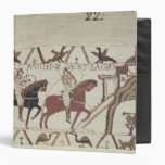 William the Conqueror  arrives at Bayeux 3 Ring Binder