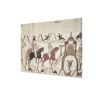 William the Conqueror  arrives at Bayeux Canvas Print