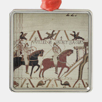 William the Conqueror  arrives at Bayeux Metal Ornament