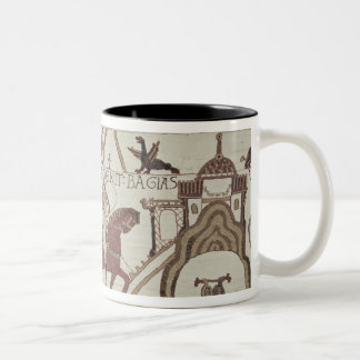 William the Conqueror  arrives at Bayeux Two-Tone Coffee Mug