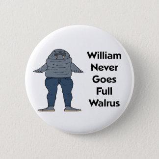 William the Walrus Pinback Button