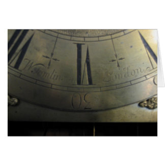 William Tomlinson Tall Case Clock Card