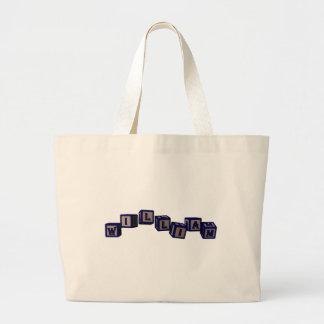 william toy blocks, blue tote bag
