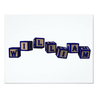 william toy blocks, blue card