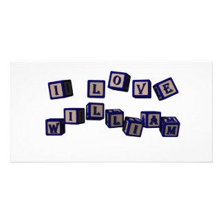 william toy blocks blue photo card