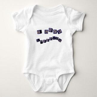 William toy blocks in blue baby bodysuit