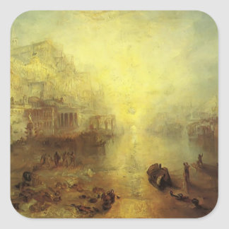 William Turner- Ovid Banished from Rome Square Sticker