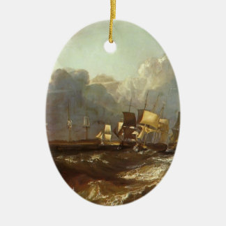 William Turner- Ships Bearing up for Anchorage Ornament