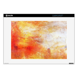 """William Turner Sun Setting Over A Lake Painting 15"""" Laptop Skin"""