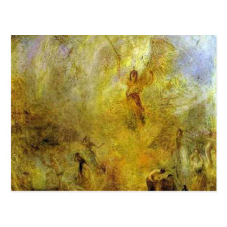 william turner- the angel, standing in the sun postcard
