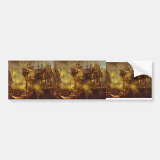 William Turner- The Battle of Trafalgar Car Bumper Sticker