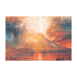 William Turner Vesuvius in Eruption waterscape art Canvas Print